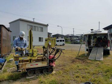 新潟市西区K様邸の地盤調査開始♪